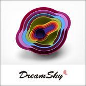 彩虹碗 8件套 烘培盤 厨房 小用具 沙拉 蔬菜藍 調理碗 Dreamsky