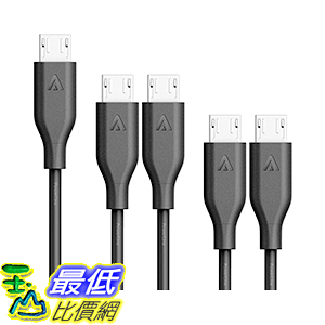 [106美國直購] Anker[5-Pack]PowerLine Micro USB-Durable Charging Cable[Assorted Lengths]充電線 傳輸線