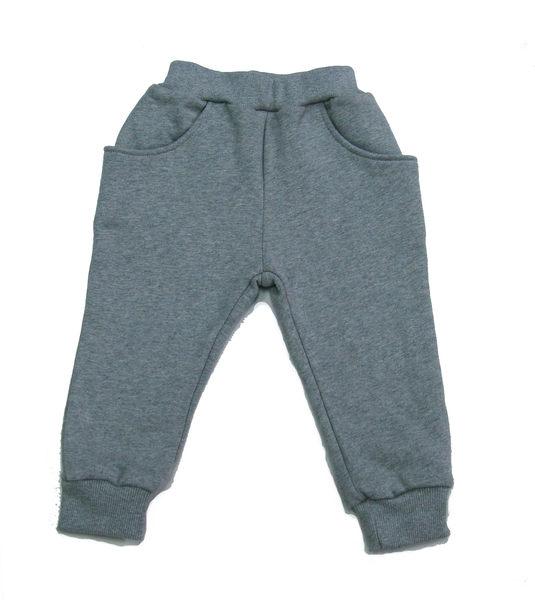 ★亞偲悠遊寶-yesboonbo★刷毛口袋褲---灰色