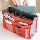 韓國化妝包-擴充機能加大 防水雙拉式手提收納包 包中包 網狀收納包【庫奇小舖】