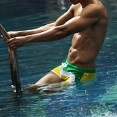 潮夏爆款男士泳褲 條紋時尚個性平角游泳褲溫泉沙灘褲男式泳裝 聖誕交換禮物