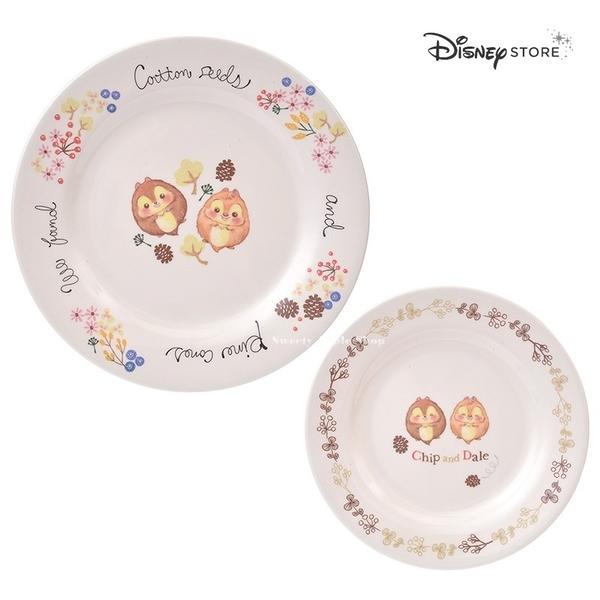日本 Disney Store 迪士尼商店 限定『Autumn is Here』奇奇 蒂蒂 2入 餐盤組