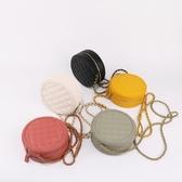 圓形包包斜挎女mini小香風菱格鍊條迷你小包搭裙子的小圓包凹造型