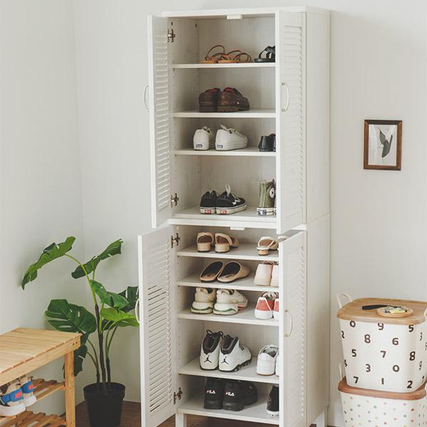 鞋櫃 北歐 玄關櫃 鞋架 大容量【P0013-A】Ginza百葉雙門鞋櫃2入組 收納專科