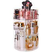 化妝品收納盒透明壓克力旋轉置物架桌面護膚品梳妝台口紅整理抖音   LannaS