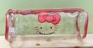 【震撼精品百貨】Hello Kitty 凱蒂貓~Hello Kitty日本SANRIO三麗鷗KITTY透明化妝包/筆袋-紅*90115