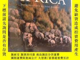 二手書博民逛書店ANIMALS罕見OF AFRICA 《非洲生靈》8開布面精裝+