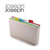Joseph Joseph 檔案夾止滑砧板組-雙面附凹槽(大銀)