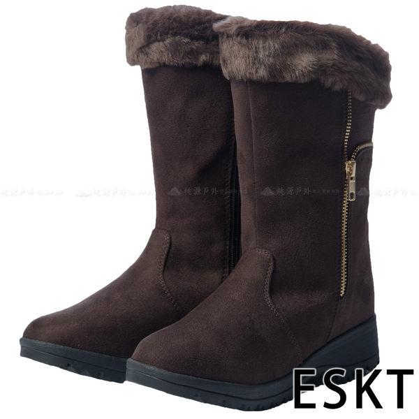 【 ESKT 】女中筒雪鞋『咖啡』SN218 雪靴│賞雪必備│附簡易冰爪
