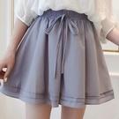 雪紡短褲 大碼雪紡短褲女夏季新款寬鬆顯瘦a字寬管褲時尚高腰褲裙-Ballet朵朵