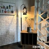 落地燈 復古懷舊落地燈歐式古典創意咖啡廳馬燈煤油燈美式簡約客廳落地燈ATF koko時裝店