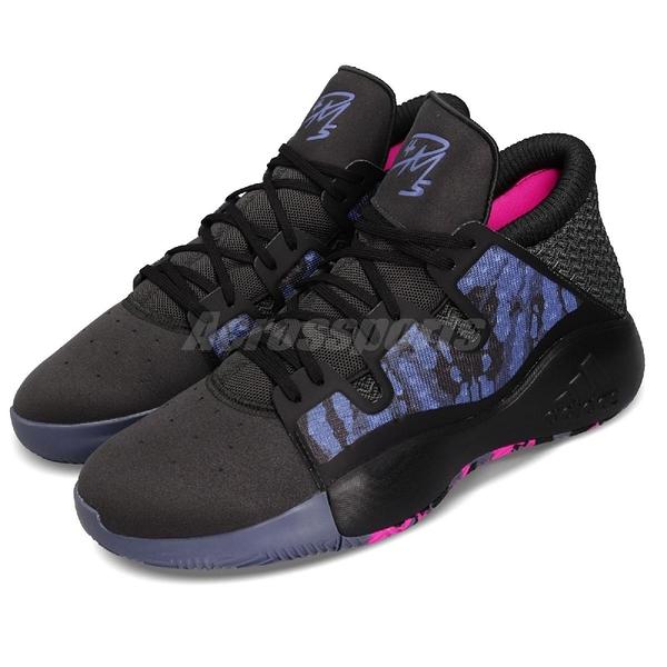 adidas 籃球鞋 Pro Vision - Select PE 黑 藍 Donovan Mitchell 男鞋 爵士隊【PUMP306】 EE6868