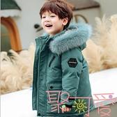 兒童羽絨服男童中長款童裝洋氣小童寶寶加厚冬裝外套【聚可愛】