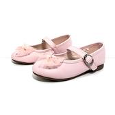 《7+1童鞋》日本娃娃 點點蝴蝶結 小皮鞋 娃娃鞋 公主鞋 D690 粉色