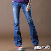 BIG TRAIN 日式繡花低腰靴型褲-女-淺藍