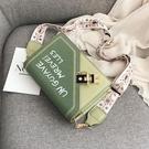 斜背包 小包包女包新款韓版洋氣百搭ins單肩斜背包時尚寬肩帶小方包【快速出貨】