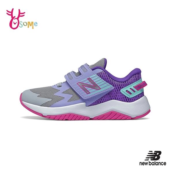 New Balance童鞋 女童運動鞋 RAVE RUN NB童 魔鬼氈跑步鞋 寬楦 輕量透氣慢跑鞋 P8532#灰紫◆OSOME奧森鞋業
