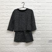 現貨出貨特價針織上衣半裙套裝-L灰色(偏小)