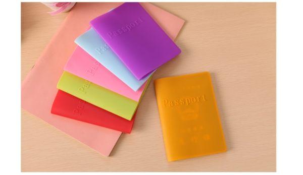 韓版可愛糖果色防塵防水硅膠護照套