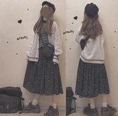 三色 日系復古ins慵懶風簡單外搭針織衫小清新開衫外套秋季少女