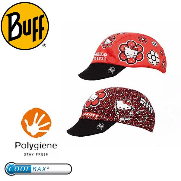 【BUFF 西班牙 花花KITTY 兒童雙面遮陽帽】BF105801/排汗/雙面/COOLMAX
