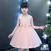 花童女禮服女兒童禮服公主裙蓬蓬演出服2020新款婚紗裙夏款洋氣裙 PA16655『美好时光』