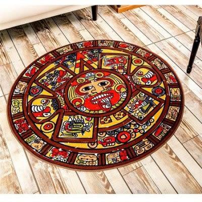 地毯客廳黑白圓形電腦椅地墊【藍星居家】