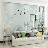 現代簡約3D立體客廳電視背景牆壁紙5D影視牆壁畫臥室牆紙自黏牆布igo   良品鋪子