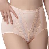 思薇爾-挺美力系列M-XXL蕾絲高腰三角修飾褲(透粉橙)