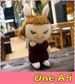 【萌萌噠】HTC One A9  日本奈良美智小魔女保護殼 立體布偶娃娃手機套 360度旋轉殼 手機殼