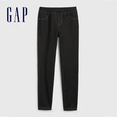 Gap女童 棉質舒適鬆緊針織褲 539688-正黑色