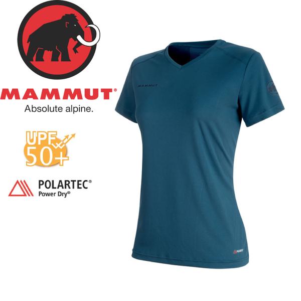 【MAMMUT Sertig T-Shirt 女《冠藍鴨》】1017-00140-50021/長毛象/Power Dry/排汗上衣/UPF50+★滿額送