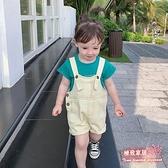 女童吊帶褲 2020夏裝新款韓版休閒兒童牛仔背帶短褲小孩夏季褲子【快速出貨】