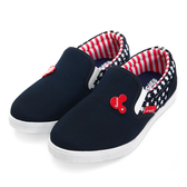Disney 星光戀曲 米奇後側拼接懶人鞋-藍