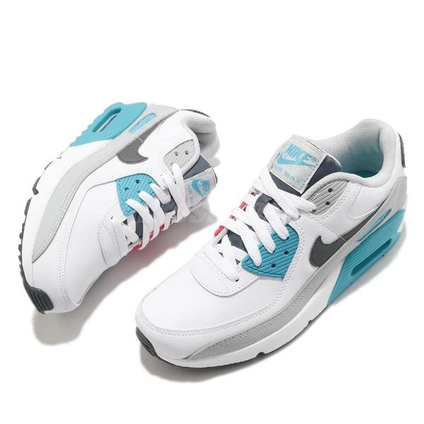 Nike 休閒鞋 Air Max 90 LTR GS 白 紅 藍 女鞋 大童鞋 復古慢跑鞋 【ACS】 CD6864-108