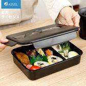 日本ASVEL便當盒男士健身餐 雙層飯盒辦公室分格微波爐飯盒  one shoes