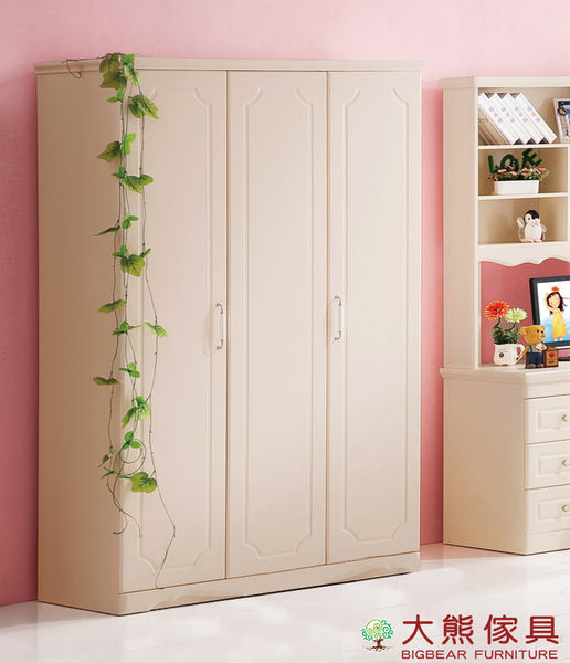 【大熊傢具】LH 6806 兒童衣櫃 韓式衣櫃 三門衣櫃 衣櫥 鄉村風 收納櫃 多功能儲物櫃 另售床組