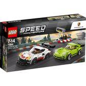 【LEGO 樂高積木】SPEED CHAMPIONS 系列 Porsche 911 RSR and 911 Turbo 3.0 LT-75888