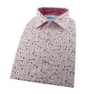 【南紡購物中心】【襯衫工房】長袖襯衫-白底紅色水墨風印花