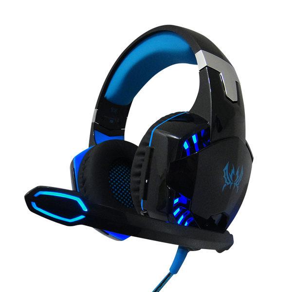 【L1】【重型電競耳麥】電競耳機 麥克風【超重低音】嗜魂者魔鋸暴風遊戲耳機 LED耳機 頭戴式