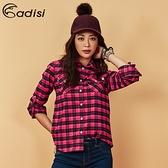 ADISI 女格紋速乾保暖襯衫 AL1821082 (S-2XL) / 城市綠洲 (中空保暖紗、快乾、吸濕發熱)