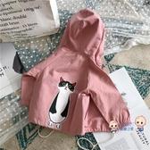 薄外套 兒童春季新上衣2020女童可愛貓咪長袖外套休閒開衫小清新夾克4640 1色