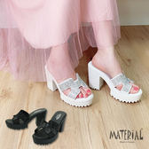 拖鞋 造型水鑽高跟拖鞋 MA女鞋 T7302