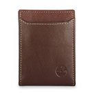 Timberland 細紋皮革logo烙印名片夾信用卡夾(咖啡色)850005-1
