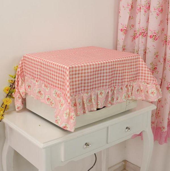 [超豐國際]田園布藝微波爐套電烤箱蓋巾美的微波爐罩微波爐防塵