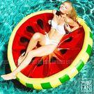 ◇方妮FaNi◇歐美火紅【檸檬西瓜游泳圈飄浮床】水果水上充氣泳圈度假海灘沙灘充氣泳池比基尼