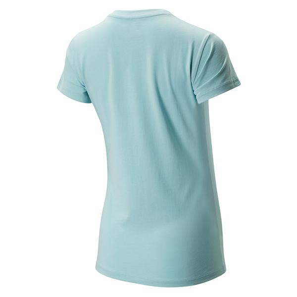 New Balance 女裝 短袖 休閒 經典 棉質 LOGO 淺藍【運動世界】AWT91546DRZ