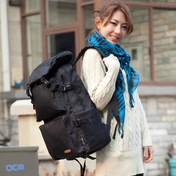 旅行背包超大容量男雙肩包女韓版潮帆布背囊防水戶外登山包電腦包