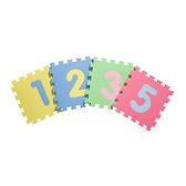 【新生活家】增厚1.4倍-鑽石紋數字巧拼地墊(10入)