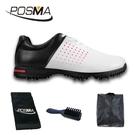 高爾夫球鞋 防水超纖皮鞋 男士透氣鞋 防滑golf shoes GSH069WHT